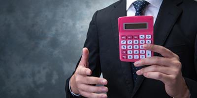 Une calculatrice rose